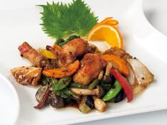 タラバ蟹と旬野菜炒め