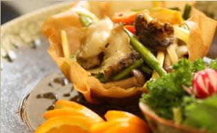 生アワビと彩り野菜の炒め