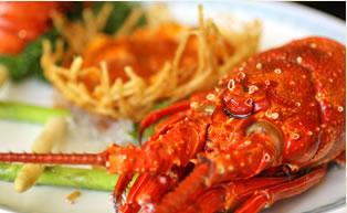 本日の海鮮三種の彩り野菜添え